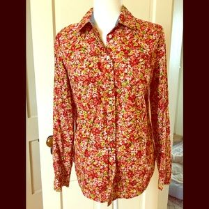 Talbots floral button up